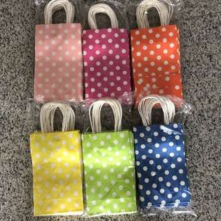 Colorful paper bag - Do it yourself party goodie bag, goody bag carrier
