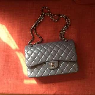 Chanel Grey Lambskin 30cm