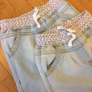 (New) 2x denim trousers
