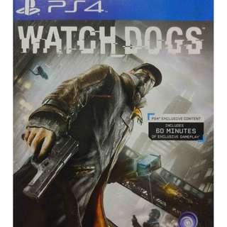 Used Playstation 4 PS4 Watch Dogs Region 3 (NEAREST MRT)