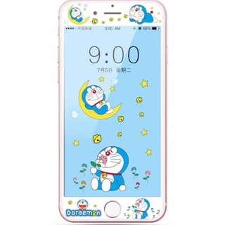 保護膜 IPhone6/7/8/plus : 卡通多啦A夢3D軟邊鋼化膜