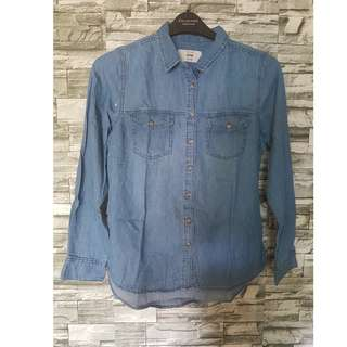 New Look Men's Long Sleeve Classic-Fit Chambray Shirt