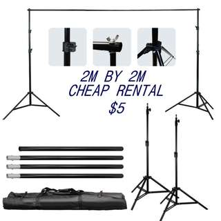 2meter by 2meter - Backdrop stand