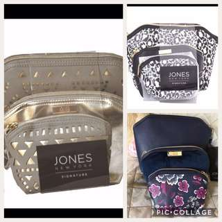 💯Authentic Jones New York 3 Pc. Beauty Bag Set