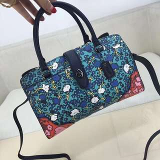 Coach Mercer Multi Floral leather satchel 24 bag