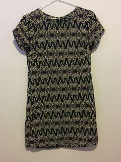 NAVY PINK SHIFT DRESS