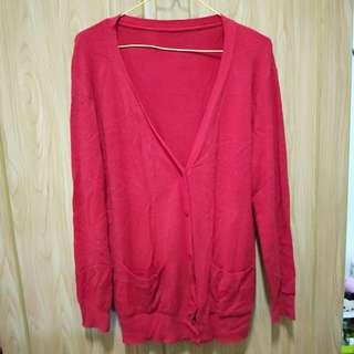 針織紅外套