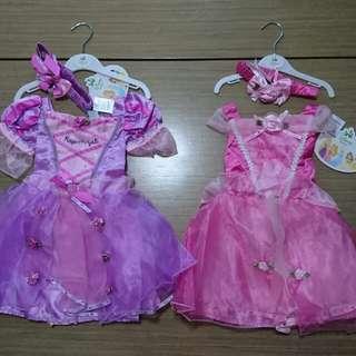 正版公主裙(半價) Disney princess baby dress (rapunzel, aurora) 6-12m