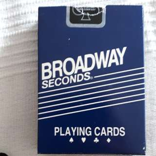 Broadway seconds playing cards