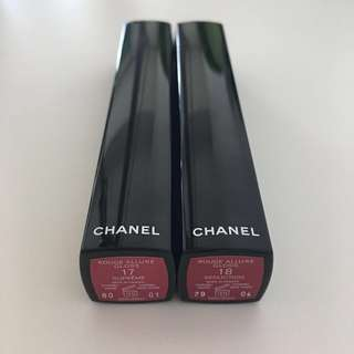 Chanel rouge allure lipgloss 16 17 18