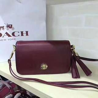 Coach legacy leather penny shoulder Crossbody bag