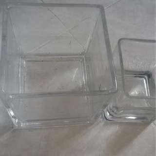 玻璃花盆 (方型)