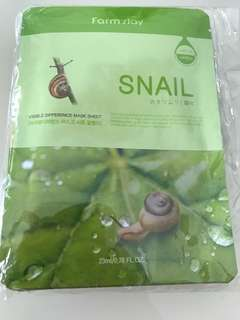 Snail visible difference mask sheets Farm Stay