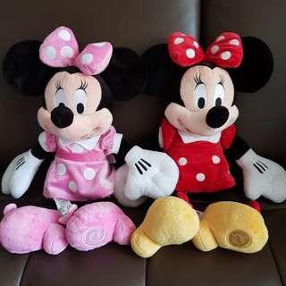 迪士尼樂園購回~正版米妮絨毛玩偶/娃娃