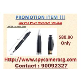 Spy Audio Recorder Pen 8GB