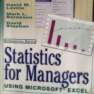 Statistics for Managers usiing Microsoft Excel, 2nd Edition, by David M. Levine, Mark L. Berenson and David Stephan