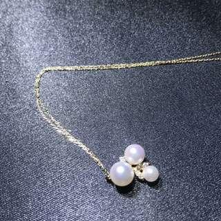 日本養珠鑽石頸鍊