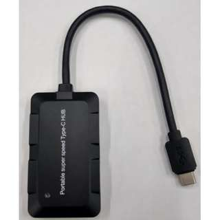 GarEthan Type-C 4-Port USB3.0 Hub, Black
