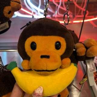 全新正品Bape Baby Milo 香蕉鏡子鎖匙扣