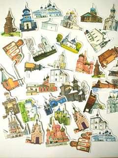Architecture sticker pack