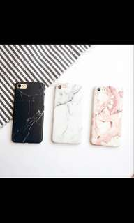 Marble iPhone X  黑 白色 雲石 手機殻 軟殻