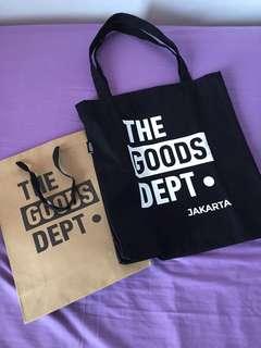 The Goods Dept Black & White Tote Bag