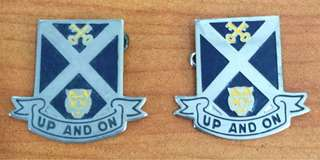 Vintage...one pair SCHOOL Metal Badge