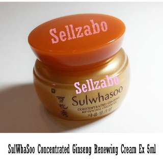 2 Tubs 雪花秀 Concentrated Ginseng Renewing Face Cream EX Sellzabo Sulwhasoo Sulwasoo Anti-Aging