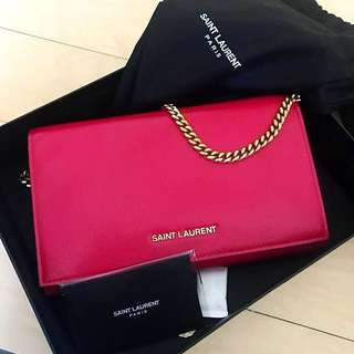 🈹100000000% real YSL clutch (with Chain)