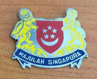 Vintage...MAJULAH SINGAPURA STEEL BADGE