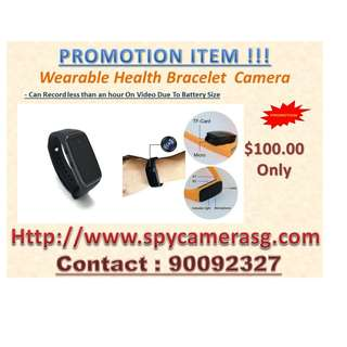 Spy Camera Wearable Bracelet HD Black Colour