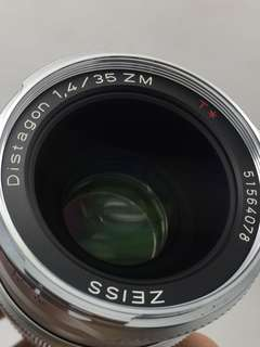 Carl Zeiss Distagon 35mm F1.4T* ZM