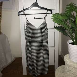 Gingham Tight Fitted Dress