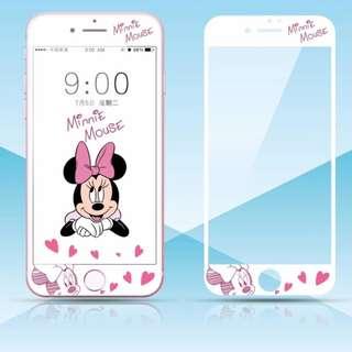 保護膜 IPhone6/7/8/plus : 卡通廸士尼系列3D軟邊鋼化膜