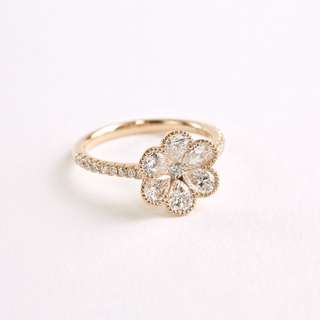 1.5ct Floral Diamond Ring