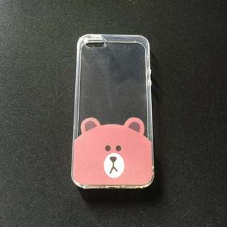 Printed Bear Clear Soft Case for iPhone 5/5s/SE