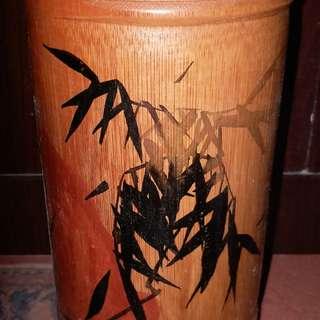 竹筆筒,8寸高