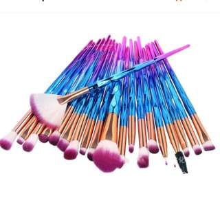 20pcs unicorn make up brush set