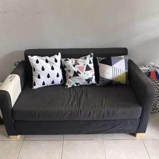 IKEA Solsta Sofa Bed free bantal + meja tamu