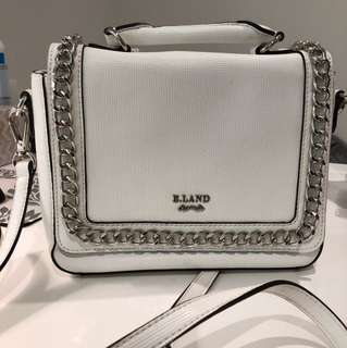 White crossbody bag with handle