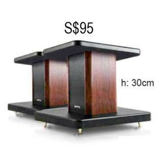 H 30cm Mahogany col. Wooden floor Speaker Stand - Brand New