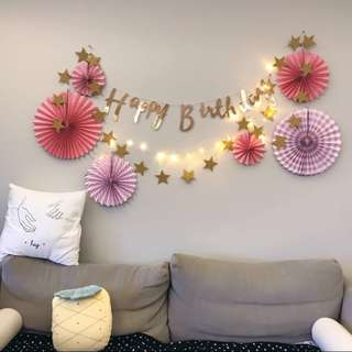 Twinkle Star Garland - Party / birthday / wedding / brides / backdrop / bunting