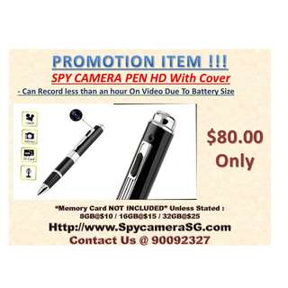 Spy Pen With Cover HD