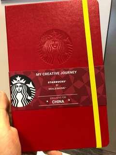 全新Starbucks x Moleskin 特別版紅色記事簿 notebook