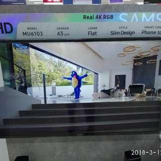 Samsung UA43MU6103 Cukup Bayar DP Tanpa Kartu Kredit Free 1X Cicilan