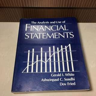The Analysis and Use of Financial Statements Book by Gerald I. White, Ashwinpaul C. Sondhi and Dov Fried