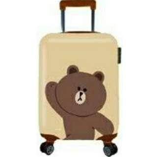 LINE FRIENDS 20吋 亮面熊大行李箱 登機箱 拉桿箱 旅行箱 PC+ABS TSA美國海關鎖