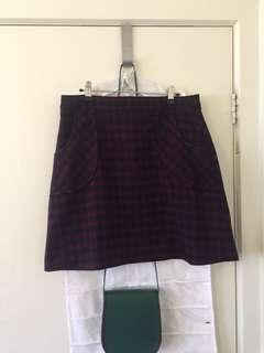Dangerfield Tartan Skirt Size 12