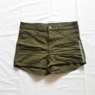 BNWT H&M Olive Green High Waisted Shorts HWS