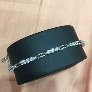 925 Silver Bracelet with Shiny Crystal